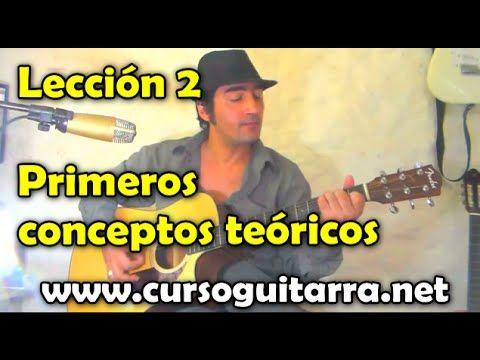 Primeros conceptos teóricos en la guitarra