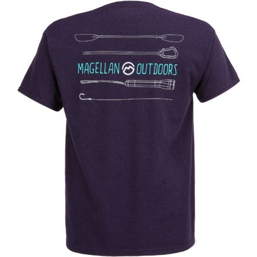 Magellan Outdoors Men's Outdoor Gear T-shirt (Purple Dark, Size X Large) - Men's Outdoor Apparel, Branded Graphic T's at Academy Sports