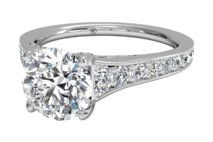 Tapered pave diamond band engagement ring  | Click for your chance to win a $1000 gift card from Ritani!