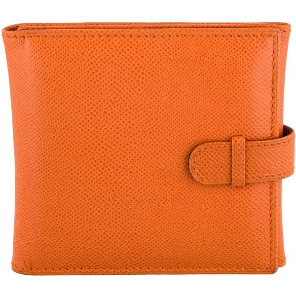 Pre-owned Asprey Leather Travel Frame (21840 ALL) ❤ liked on Polyvore featuring home, home decor, frames, orange, leather home decor, leather frames, orange home accessories, orange home decor and orange picture frames