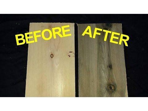 Aging Wood: Vinegar & Steel Wool Solution - YouTube