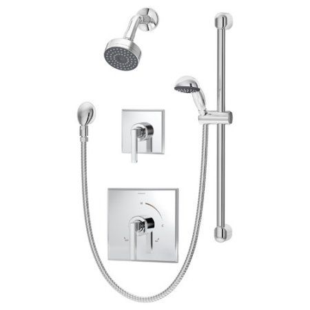 Duro 2 Handle Shower Faucet Trim With Hand Shower Valve Not