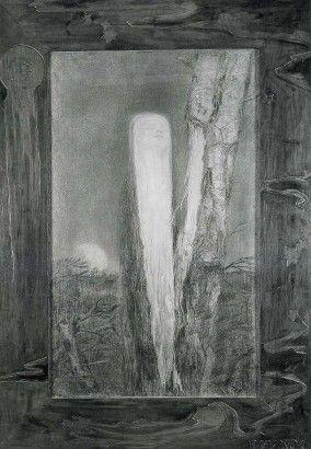 František Bílek Matko! 1899 kresba karton