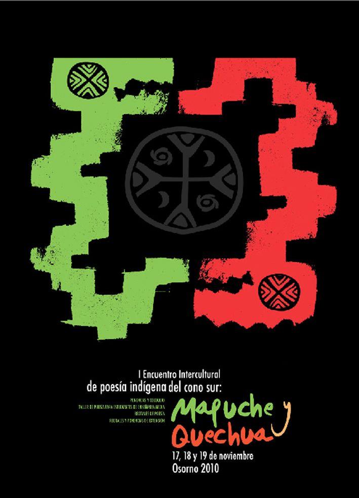Encuentro literario étnico, realizado en Osorno, Chile. Este afiche se desarrolló bajo el concepto del Tenten y Caicai Vilú, como la cosmovisión y el origen de la vida, desde la perspectiva de estos pueblos originarios.