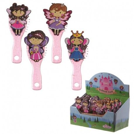 Brosse à cheveux rose collection Fun Girls - Princesses