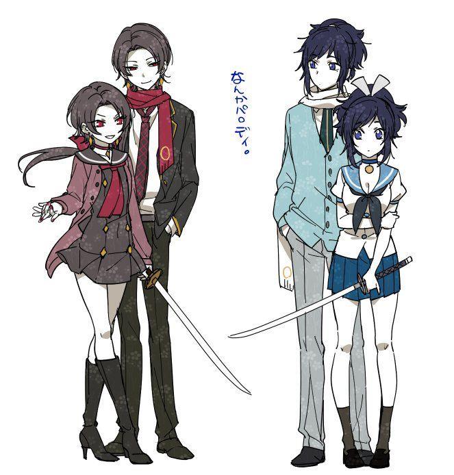 Kashuu Kiyomitsu y Yamatonokami Yasusada & genderbent.