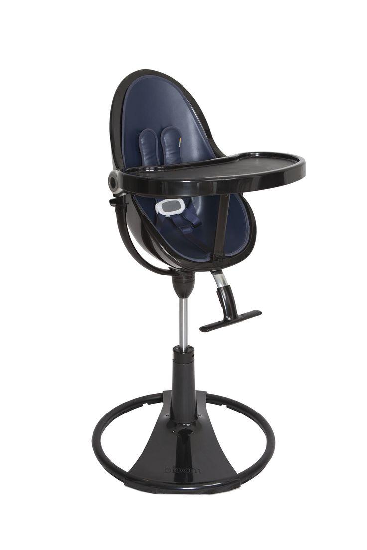 best fresco chrome in black noir images on pinterest  fresh  - black noir navy blue bloom fresco high chair is the world's highest babychair