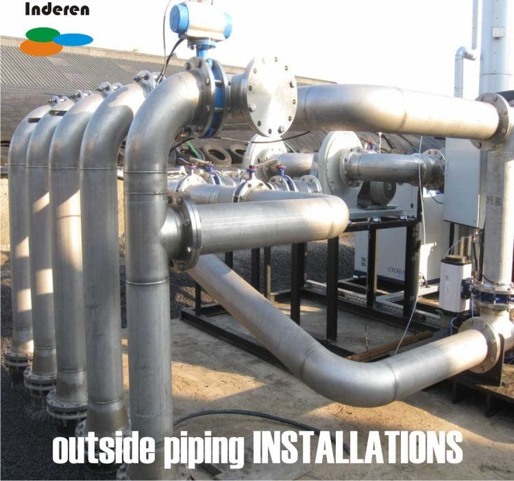 outside piping installations for biogas plants