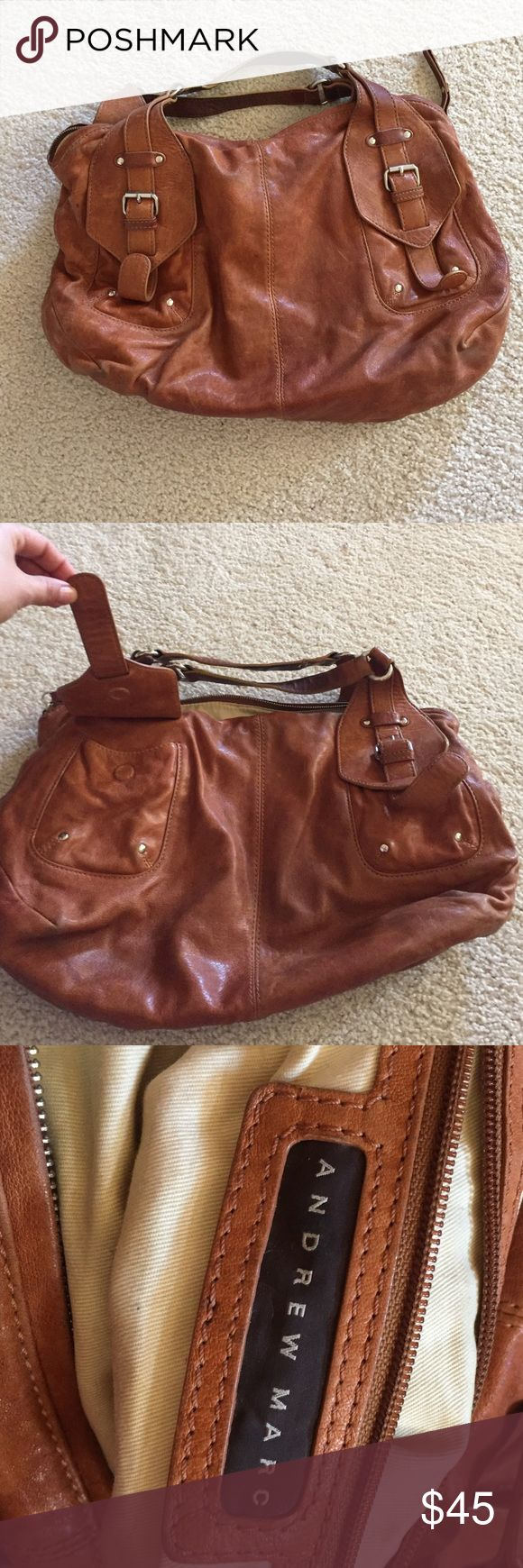 Andrew Marc Purse Used Brown Hobo purse. Lots of pockets and plenty of use left Andrew Marc Bags Hobos