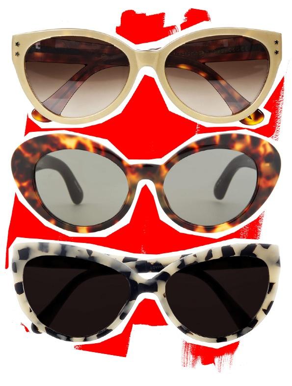 Весенний тренд: очки кошачий глаз