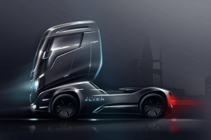 Iveco Stralis Alien On Behance Truck Design Concept