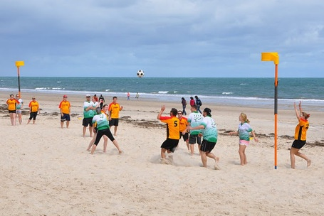 beach korfball, i should try once before going back to Brunei for good.