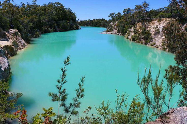 Little Blue Lake, North-East Tasmania.   #littlebluelake #tasmania #blue #water #outdoor #photography
