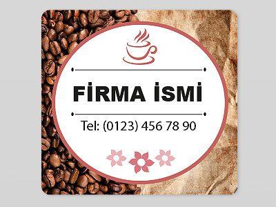 Kahve işiyle uğraşıyorsanız firmanıza özel sticker türleri