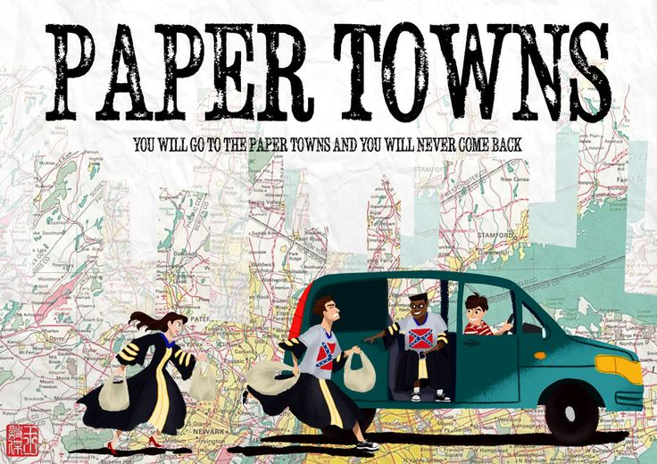 Paper Towns (John green) Fanart. I loved all the road trip part so to see the fanart for it is great!