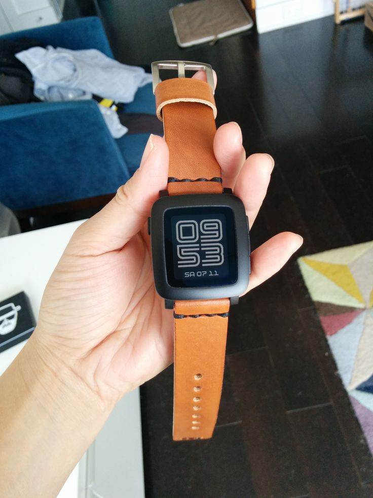 Pebble Time - Finally got my new strap! Pebble Time looks like a whole different watch! in LOVE. by Ngthatsme