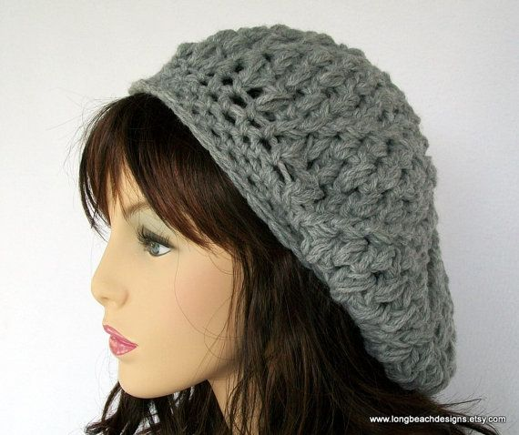 THIS IS NOT A FINISHED HAT, IT IS A PATTERN FOR YOU TO CROCHET IT YOURSELF.  Crochet slouchy hat pattern for adults and teens. Sophisticated