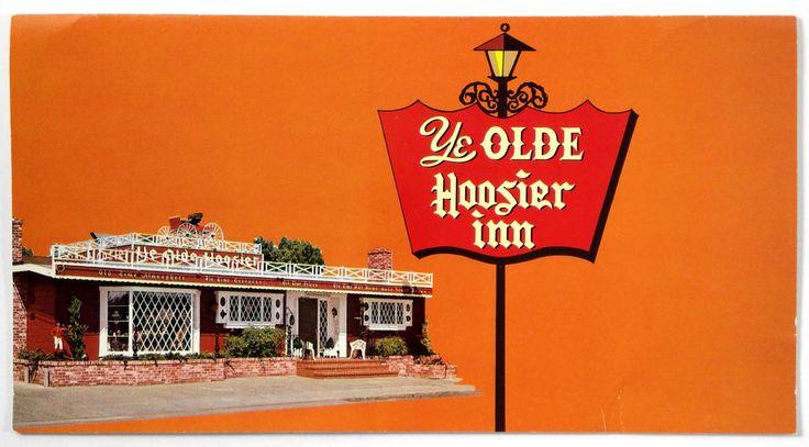 1983 Vintage Menu Lot YE OLDE HOOSIER INN Restaurant Stockton California