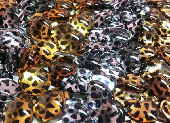 Rhinestone leopardo,ovalos y corazones