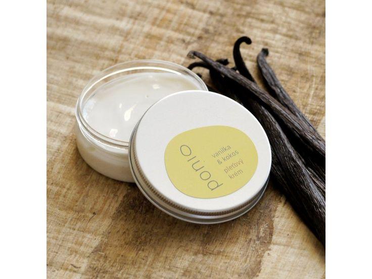 Vanilka a kokos - pleťový krém . Univerzálny krém na deň či noc, skvelý aj pod make-up. Má ľahučkú konzistenciu a je vhodný aj na zmiešanú pleť, ktorá je citlivá. 50g