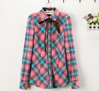Colorful Plaid Wool Shirt (B0070)    #caterpillar #barnard #lafond #bernardlafond #cottage glaze #groove #moda #shop #shopping #blouse #womenblouse #girlsblouse #shop