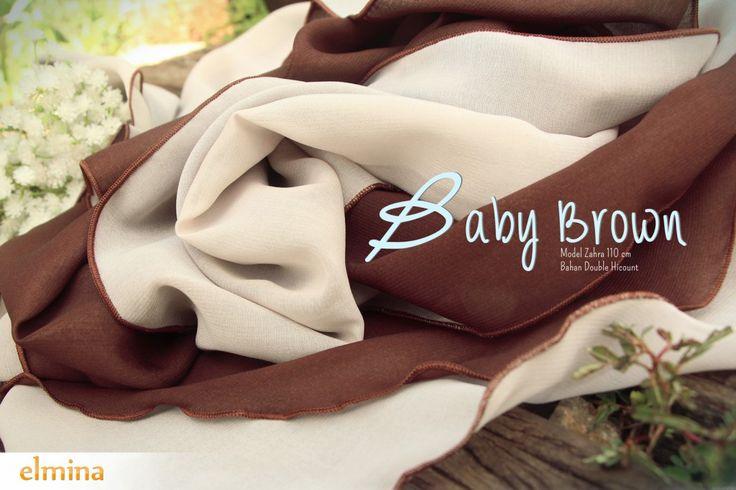 Khimar Elmina Zahra Baby Brown