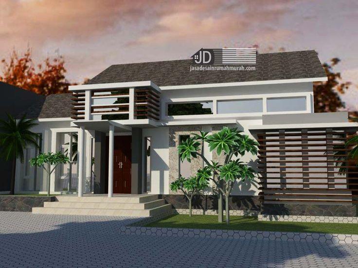 Desain Rumah Modern Tropis 1 lantai Bapak Ahmad Farihin di Tangerang