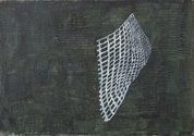 Simon McIntyre, Mesh II, 2011, acrylic on canvas board, 190 x 270 mm. Photograph: Kallan MacLeod
