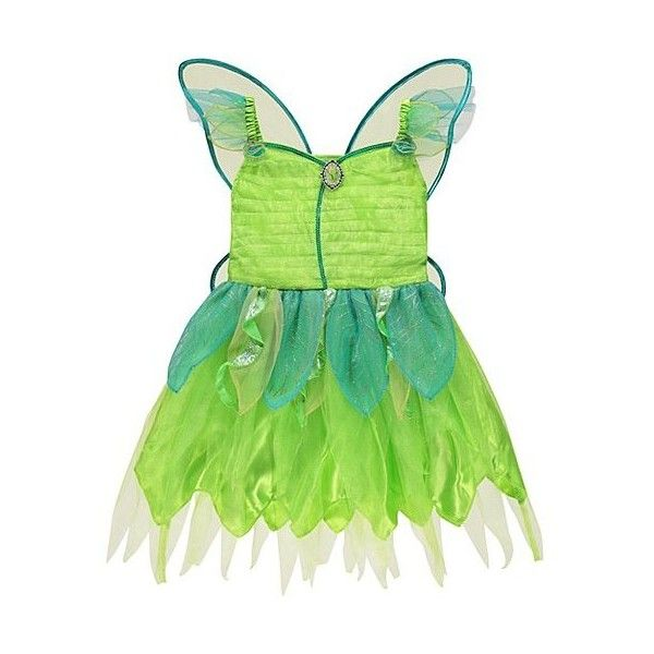 Bell Disney Fairies Tinkerbell Fancy Dress Costume ($18) ❤ liked on Polyvore featuring green