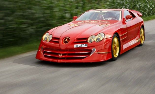 World's Most Expensive Cars 2013 Mercedes-SLR-McLaren-999-Red-Gold-Dream-2