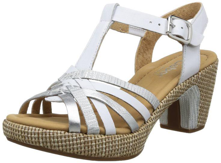 Gabor Shoes Women's Gabor Fashion Sandals multi-coloured Mehrfarbig (weiss/silber) 8.5
