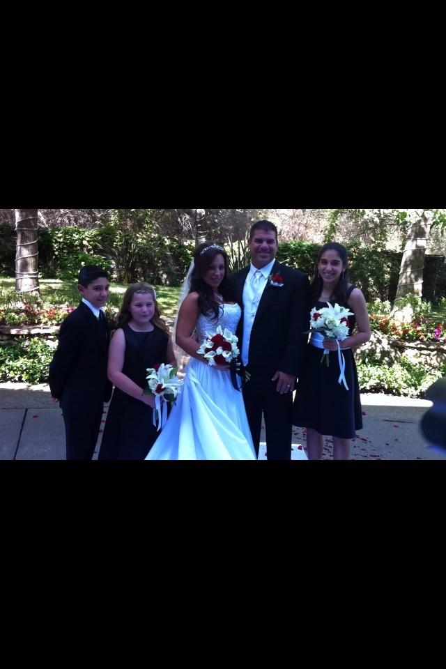 Wedding flowers. Red roses white callas white hydrangea. Trumbull wedding. Lake Natoma Inn Folsom. Crystal Rose Florist Folsom CA