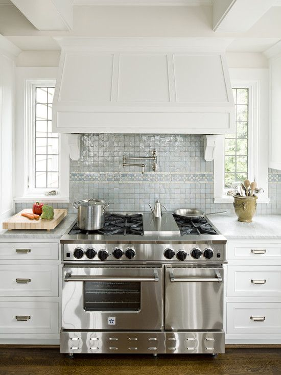 charming ideas double ovens lowes. Pretty white kitchen with beautiful range hood and iridescent tile  backsplash by Jennifer Baines Interiors 22 best Blue Star images on Pinterest Kitchens Ranges