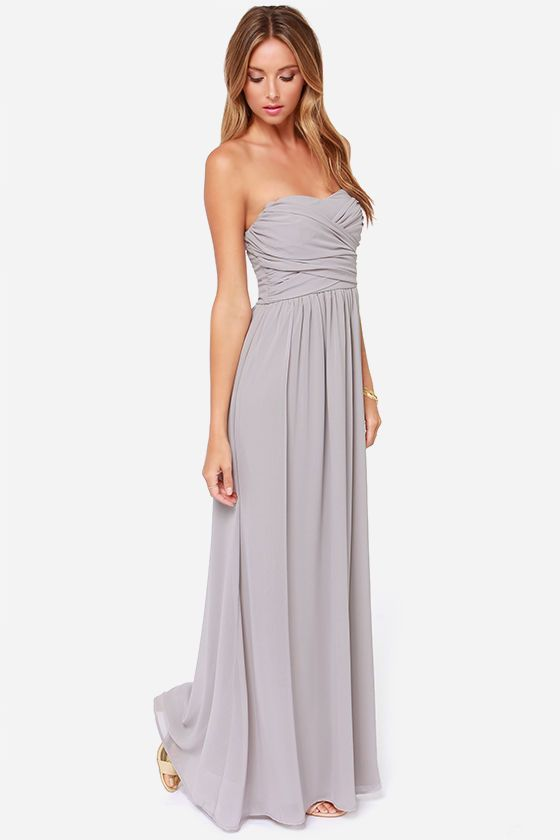 Best 25+ Grey maxi dresses ideas only on Pinterest | Wedding guest ...
