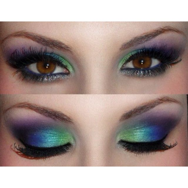 Love Smoky Eyes? Next Time Make Them Multi-Tonal and Iridescent—Like a Peacock!
