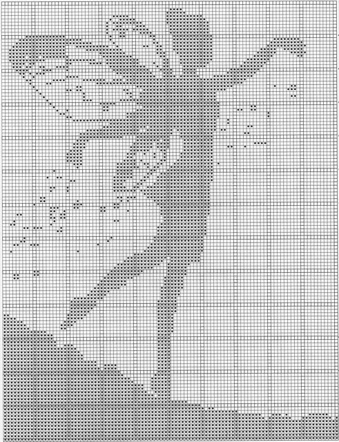 Fairy Silhouette by Heather Taylor-free intarsia chart