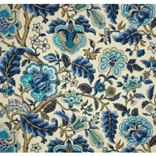 Imperial Dress in Azure Outdoor Fabric by Waverly   Fabric Traders