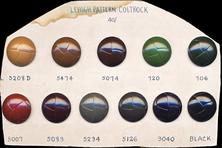 Rare Vintage COLT Plastics Company Button Sales Sample Card, Coltrock, Lehigh