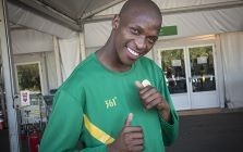 South Africa's Luvo Manyonga poses at the Olympic Village in Rio de Janeiro after having won silver at the 2016 Olympic Games. Picture: Reinart Toerien/EWN