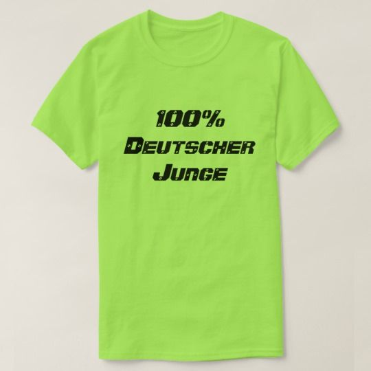 Show to the world with this t-shirt that you are 100% Deutscher Junge, 100% German Boy in German. You can customise this t-shirt to give it you own unique look, you can change the fonts type and colour, add you own text and change t-shirt type.
