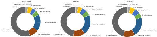 Verteilung der #LinkedIn Mitglieder der DACH Region im August 2014 nach Unternehmensgrößen #SocialMedia #Demografie