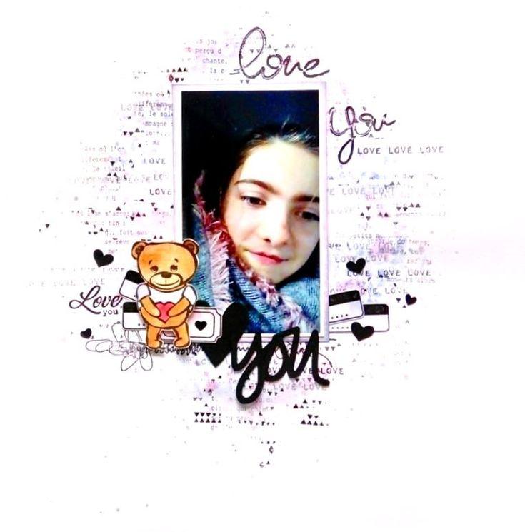"""PAGE """"LOVE YOU"""" par Michelle pour la Scraposphère"""