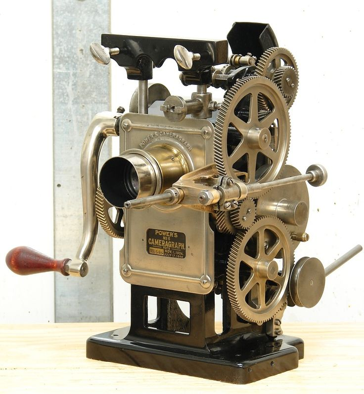 Hand Cranked Silent 35mm Movie Film Projector Antique Charlie Chaplin