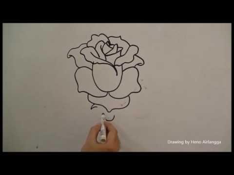 29 Gambar Bunga Mudah Dilukis Belajar Mudah Menggambar Bunga Mawar 30 Gambar Sketsa Bunga Mudah Bunga Matahari Mawar Menggambar Bunga Lukisan Lukisan Bunga