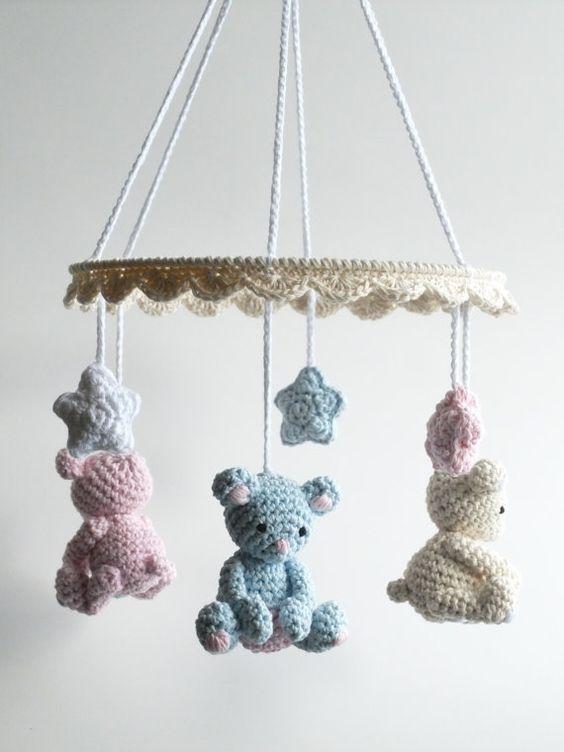 Mobile - Inspirações em croche - Promovida a Mãe
