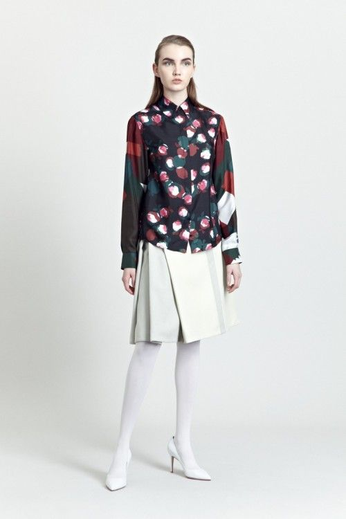 Siloa & Mook AW13: Solla Shirt, Helve Skirt.  #siloamook #fashionflashfinland #fashion #fashiondesigner #designer #aw13 #collection #Finland #Helsinki