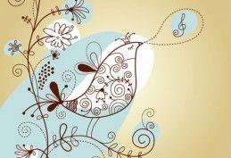 Chant oiseau avec Floral