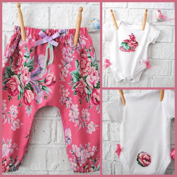 Baby Easter Outfit - Harem Pants and Bodysuit on Etsy, $46.56