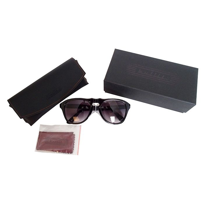 Certified Safety Glasses. ANSI Z87.1-2015 Certified. Vintage-Inspired Eye Protection. Black Frame With Faded Tinted Lens.Includes Case & Cloth. www.bullitspeedshop.com