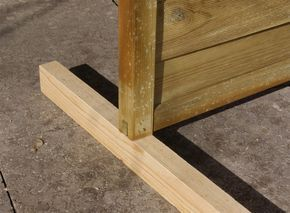 Sichtschutz Paravent Garten Balkon selber bauen Anleitung DIY Kantholz unterlegen